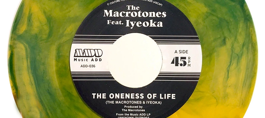 """The Macrotones ft. Iyeoka / Destroy Babylon - Unknown Outpost 7"""" - Music ADD"""