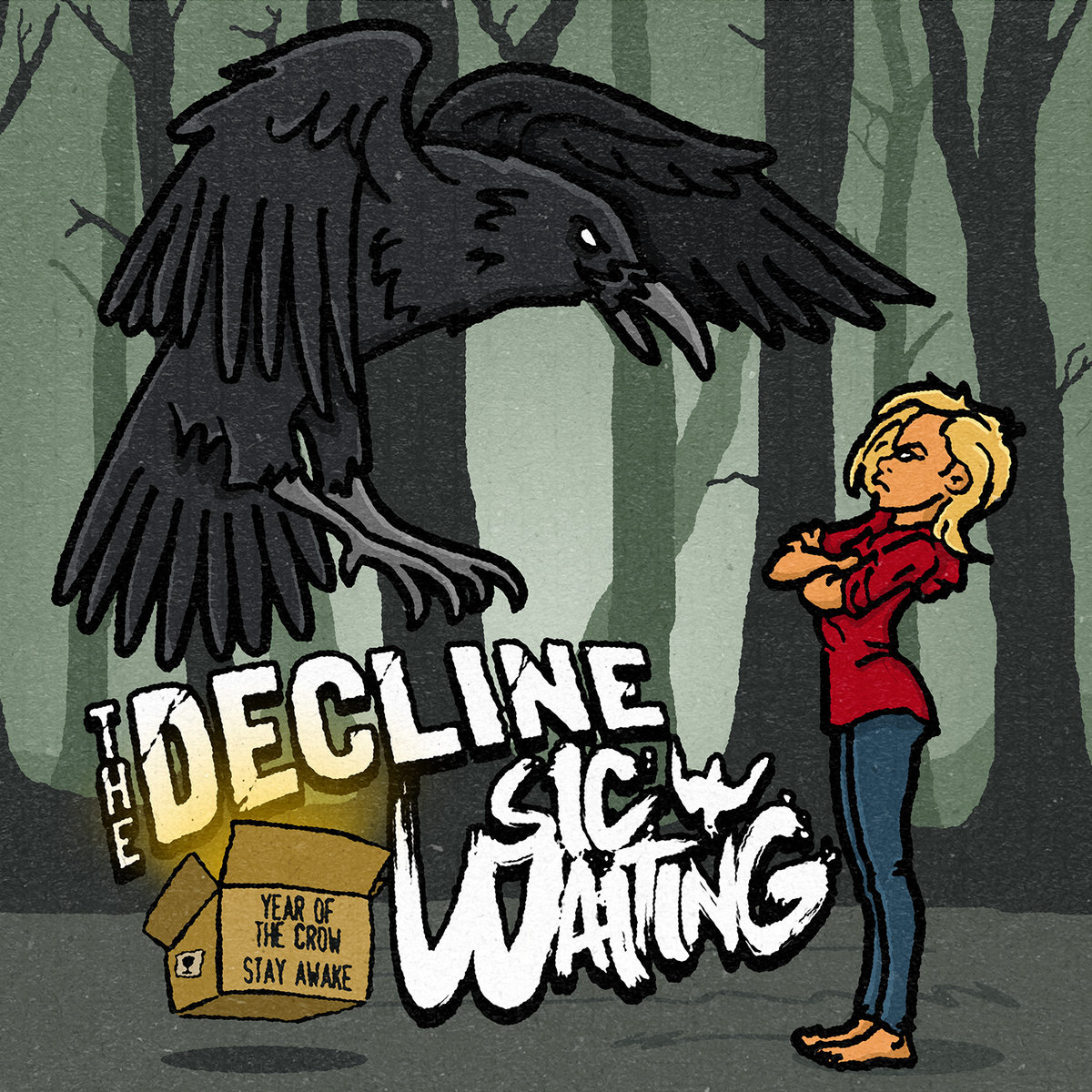 """The Decline / Sic Waiting - Year Of Crow / Stay Awake 7"""" - Various Labels"""