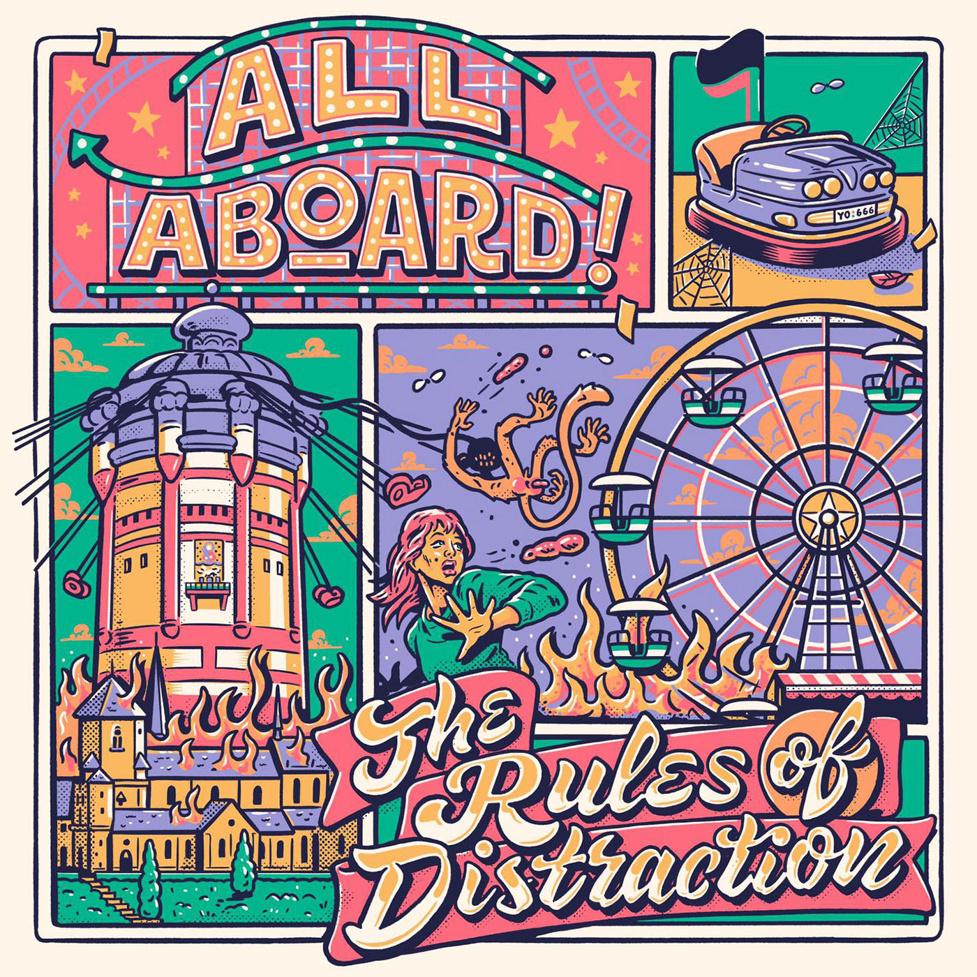 All Aboard! - The Rules Of Distraction LP - Engineer Records / Bakraufarfita Records