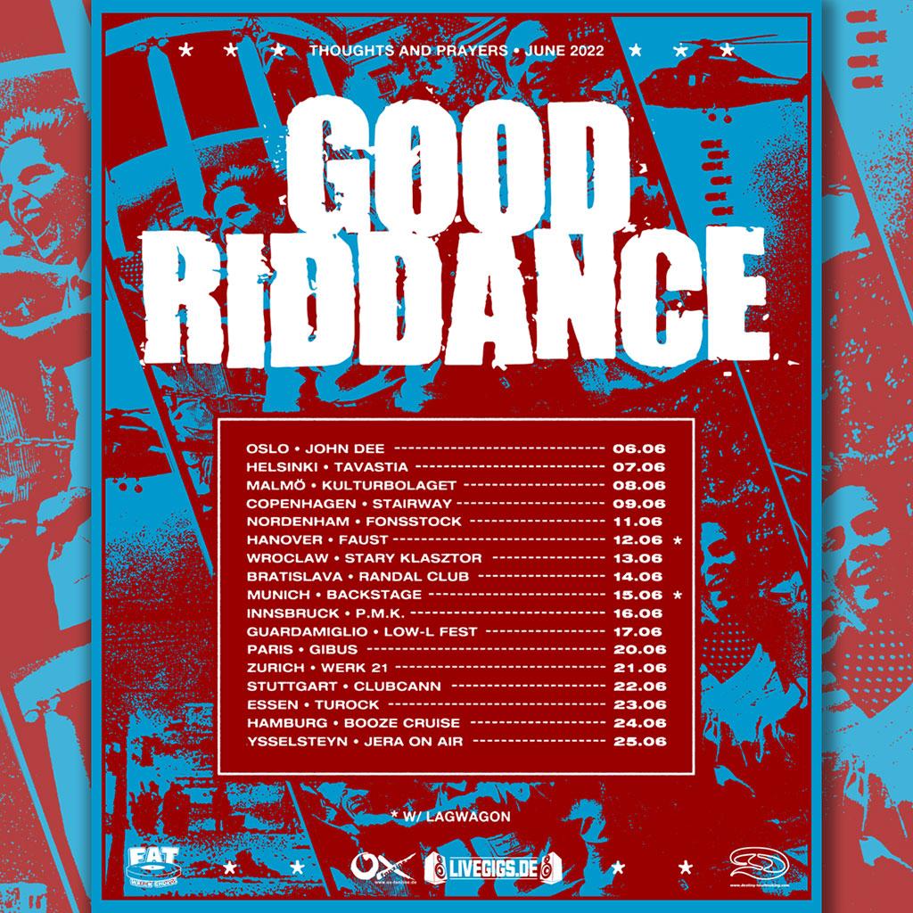 Good Riddance - European Tour Dates 2022