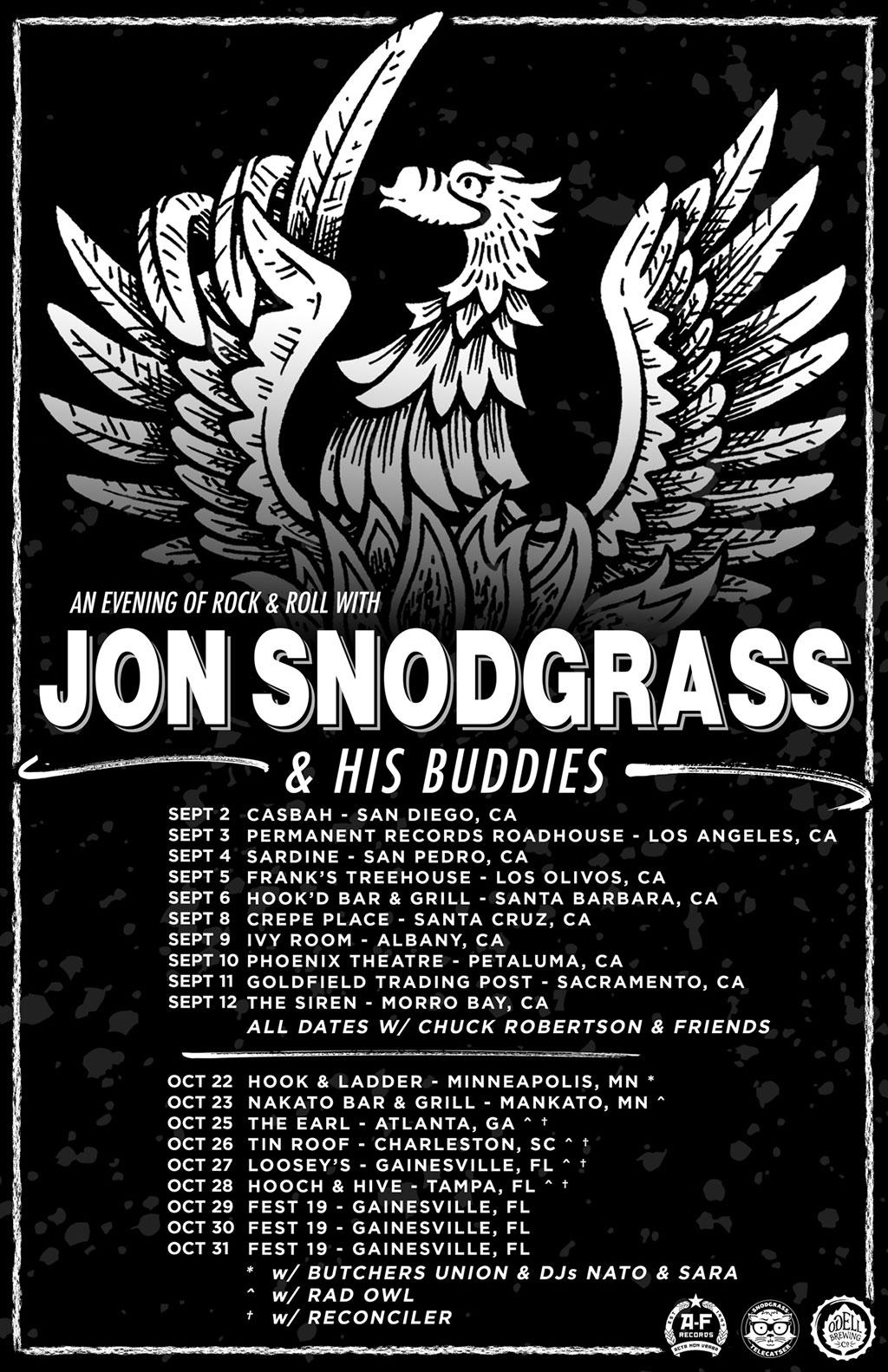 Jon Snodgrass & His Buddies - Fall Tour 2021