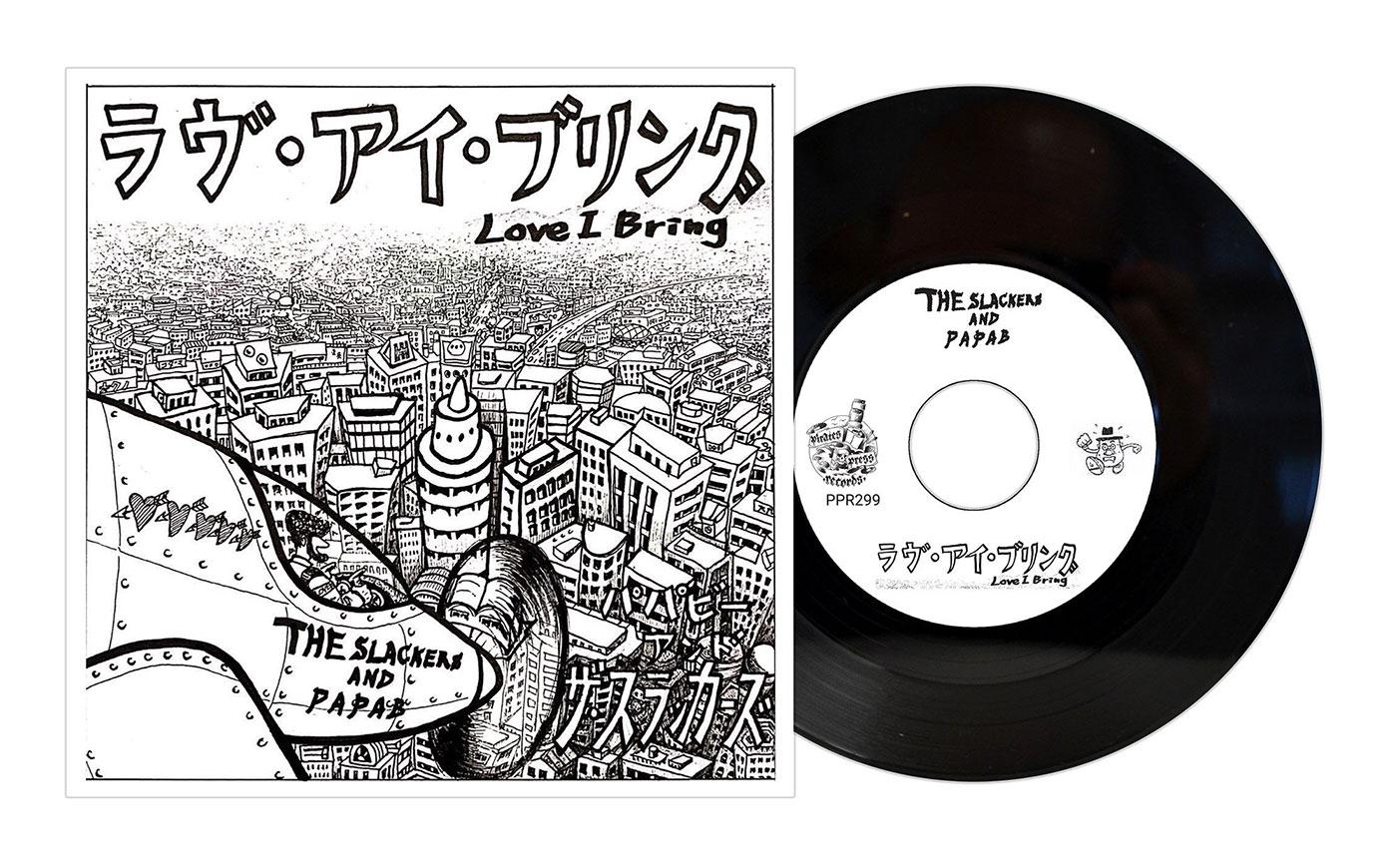 "The Slackers / Papa B // Sic & Mad - Split 7"""